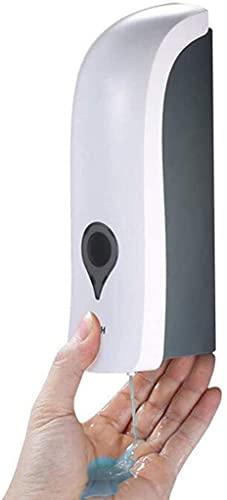 Dispensador de jabón de 1000 ml, montado en la pared, dispensador de jabón de mano, jabón líquido, sin agujeros, no es posible hacer agujeros