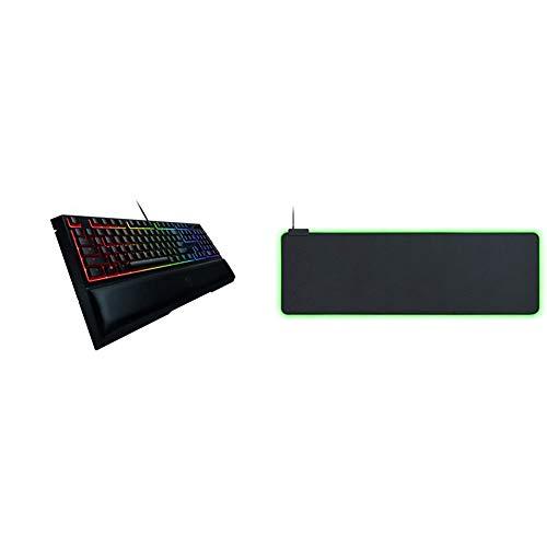 Razer Ornata Chroma Gaming Keyboard + Goliathus Extended Gaming Mousepad Bundle