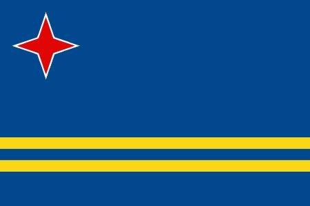 8,4 x 5,4 cm Autocollant pour voiture drapeau de Aruba autocollants pour voiture moto Housse ordinateur portable