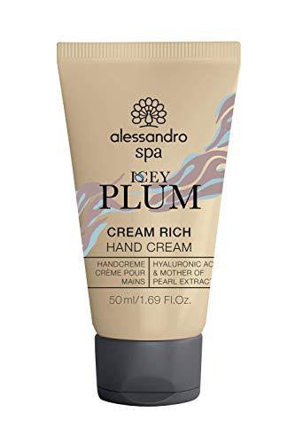 alessandro Spa Cream Rich-ICEY PLUM LIMITED EDITION- Eisiger Duft nach frischer Pflaume -Reichhaltige Anti-Aging Handcreme, bei trockenen und strapazierten Händen, 50 ml