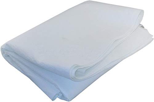 "Duda Energy Sheets:5u 1 yd. x 72"" Singed Polyester Felt Filter Media Fabric Sheet, 5 Micron, Polyester"
