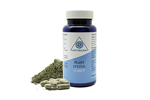 Einführungspreis I Plant Spezial A und Z I Chlorella Algen Pulver I Darmsanierung I Probiotika I Darmflora I Vegan I Ca. 60 Stück