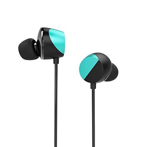 TUNAI Creative Drum Hi-Res Kopfhörer - In-Ohr Kopfhörer mit extra großen 13 mm Treibern für verbesserten Raumklang und Basswiedergabe (Türkisblau)