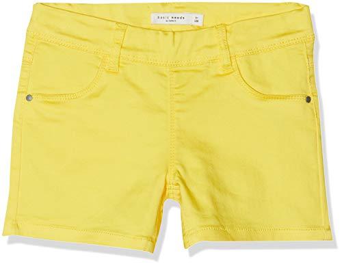NAME IT Mädchen NKFSALLI TWIBATINNA Shorts, Gelb (Primrose Yellow), (Herstellergröße: 140)