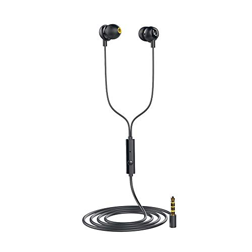 Infinity Zip 20 in-Ear Deep Bass Headphones with Mic (Charcoal Black)