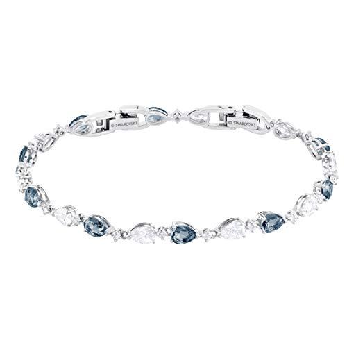 Swarovski Vintage Armband für Frauen, blaues Kristall, rhodiniert