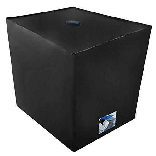 FYBlossom IBC Cover Wassertank Abdeckplane, IBC-Tank Behälter Container UV-Schutz Folie Schutzhülle, Schwarz 1000 L Wassertank Schutzplane Schutzhaube Cover, 120X100X116cm