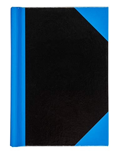 Idena 10351 - Kladde A7, liniert, 96 Blatt ,70 g/m², blau / schwarz