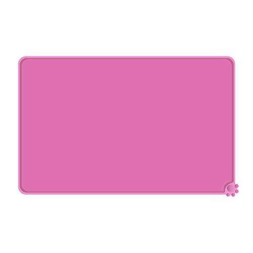 Reopet - Alfombrilla de silicona antiadherente para alimentos (50,8 x 38,1 cm), color rosa