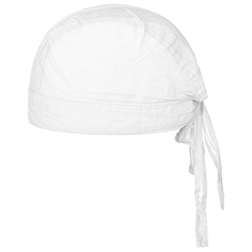 Baumwoll Bandana Corsaire Damen/Herren - Kopftuch aus Baumwolle - Sommer/Winter - Piratentuch weiß