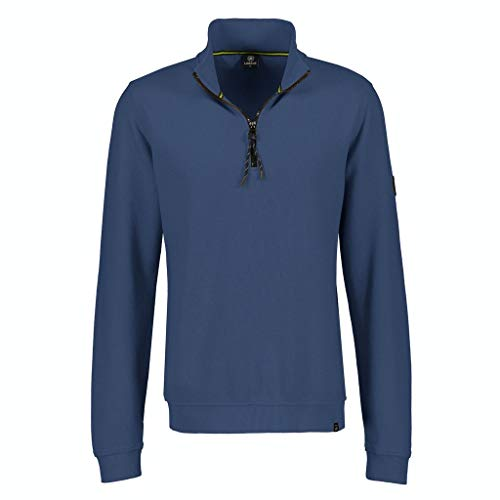 LERROS Herren Sweat Troyer Sweatshirt, Navy, XL