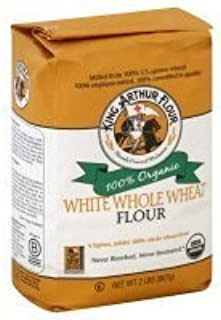 King Arthur Organic White Whole Wheat Flour 2 Lb (Pack of 2)
