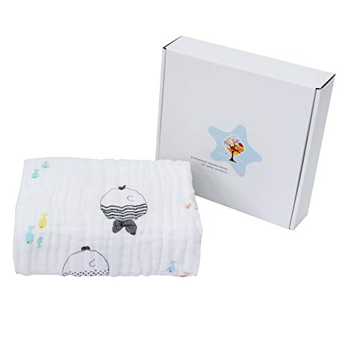 multi - fonctionnel 6-layer bébé cartoon doux super absorbant de gaze de coton, serviette de bain couverture
