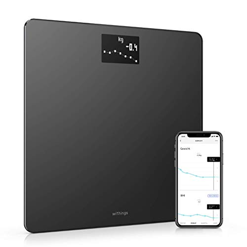 Withings Body – WLAN-Smart-Waage mit BMI-Funktion, digitale Personenwaage, App-Synchronisierung via Bluetooth oder WLAN