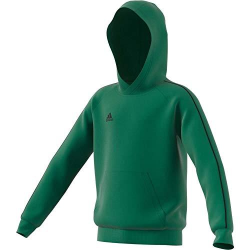 adidas Dziecięca bluza z kapturem Core 18 zielony zielony / czarny. XL (Manufacturer size:164)