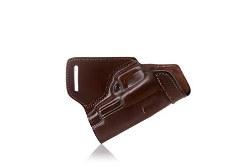 FALCO OWB Leather Holster for Wearing on Back (Black)