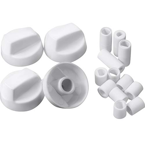 Jetec 4 Pack Control Knobs with 12 Adapters Universal Design for Oven/ Stove/ Range