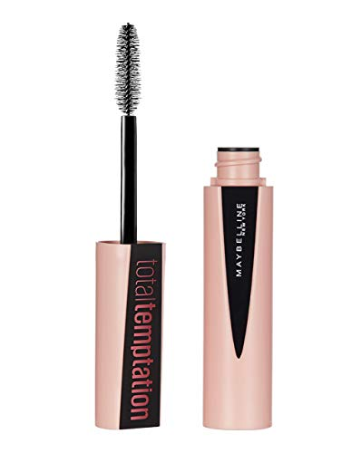 Maybelline Total Temptation Mascara in Black, schwarze Wimperntusche, für mehr Volumen, Länge und Schwung, pflegend dank Kokos-Extrakt, mit exotischem Kokosduft, 8,6 ml
