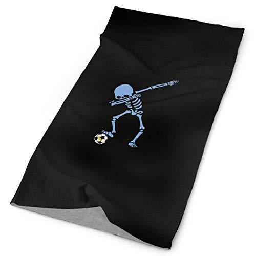 Lsjuee Argentina Dabbing Skeleton Soccer Design Pattern Unisex Face Scarf Cover A prueba de polvo A prueba de viento Variedad Pañuelo para la cabeza Multifuncional Bandanas & Anti Dust Dust for
