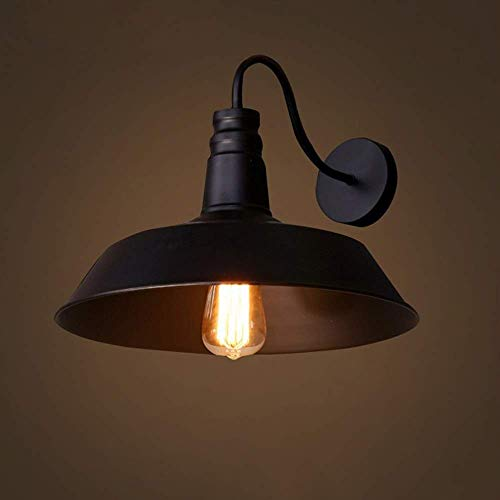 YINGGEXU Lámpara de pared país americano E27 hierro forjado material diámetro 260mm lámpara de pared lámparas dormitorio salón estudio pasillo alto sabor decorativo