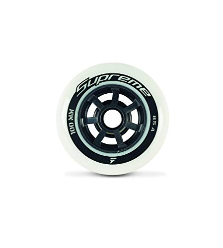 Rollerblade Supreme 100mm 85A Wheels(6 PCS) White, US Unisex ST