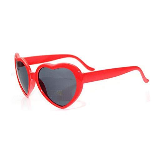 Gafas difractivas en forma de corazón, gafas de amor de moda con efectos especiales: vea el corazón, gafas de amor para ver carnaval en 3D, regalos de San Valentín para novias e hijos