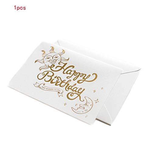 Retro Mini Verjaardagskaart Creatieve wenskaart Alle gelegenheden Lege Envelop Gefeliciteerd briefpapier