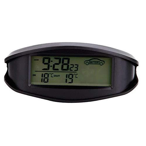 MAOX Raumthermometer Thermometer Hygrometer, Alarm Voltmeter Auto Innen Außen Zeit Temperatur Spannungsanzeige Kalender-Multifunktions Elektronische Led Zwei-Farben-Hintergrundbeleuchtung Converted