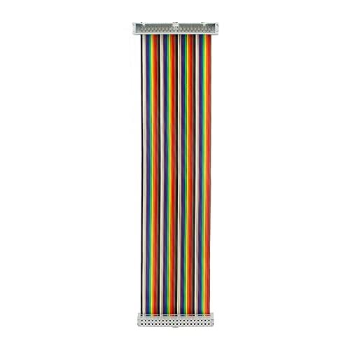 Stecker auf Buchse GPIO Flachbandkabel 40pin 8inch Breadboard Jumper Drähte für den Anschluss Raspberry 4B 3B