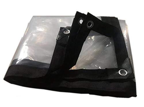 MMADD con una Lona Ojal Impermeable, una terraza Exterior Cubierta Transparente Lona Impermeable Puede desgarrar pérgola,1×2m