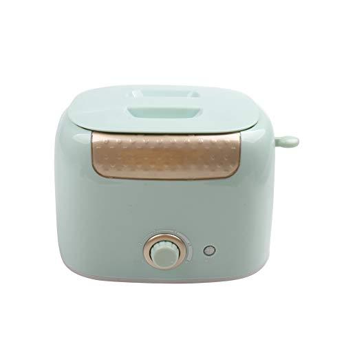 NAFE Mini tostadora automática multifunción, calefacción rápida hogar 2 rebanadas Tostadas de Pan sándwich máquina de Desayuno Acero Inoxidable-Lightgreen