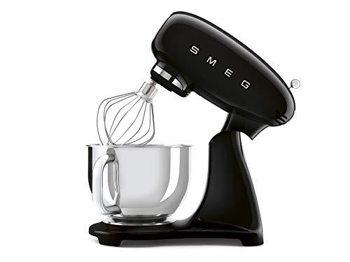 SMEG SMF03BLU keukenmachine 800 W 4,8 L, 6 functies, roestvrij staal 18/8, zwart, 22,1 x 40,2 x 49 cm