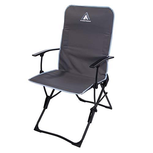 10T Campingstuhl John Arona XL Klappstuhl flach klappbarer Stuhl Gartenstuhl Hochlehner bis 130 kg