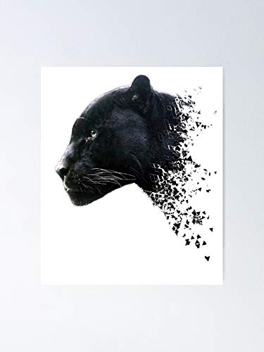Black Panther Shattered Fierce Attack Poster - for Quote Print, Affordable Wall Art Printable, Gallery Wall, Family, Friends, Brother, Sister, Kids.