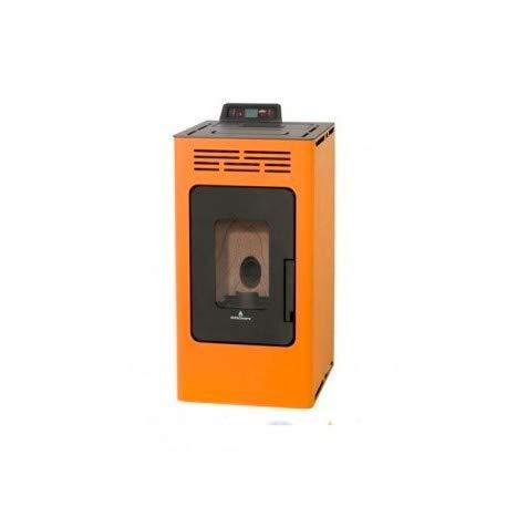 Bronpi – Estufa de pellets, 8,1 kW, modelo Kira, color naranja