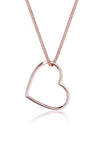 Elli Collares Colgante Corazón Love Cut Out en plata de ley 925