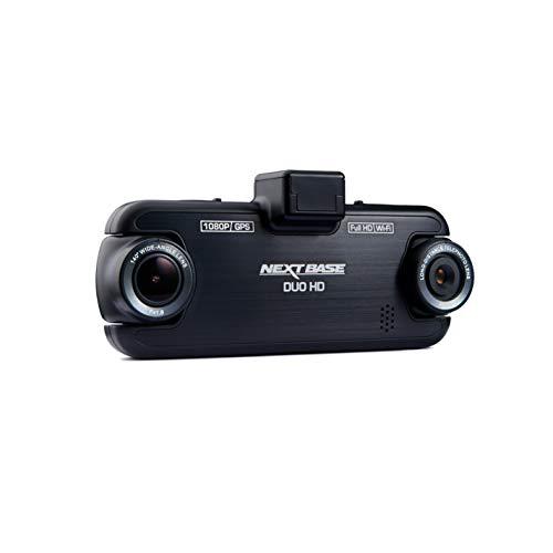 Nextbase DUO HD - Volle 1080p DVR Dashcam Auto-Kamera für den Front- und Rückbereich mit zwei Objektiven - 140 ° Betrachtungswinkel - WLAN und GPS – Schwarz