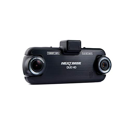 Nextbase DUO HD – Full 1080p Front and Back Dual Lens DVR In-Car Dash Camera - 140° Viewing Angle – WiFi and GPS