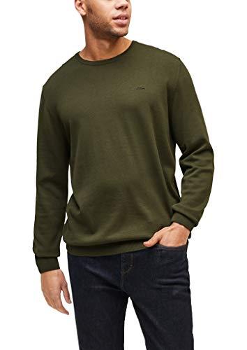 s.Oliver Big Size Herren 131.10.101.17.170.2064877 Pullover, Olive, 4XL