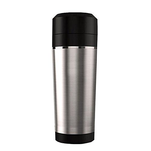 ZX Wasserkocher Kreativer elektrischer Kessel/Schalen-rostfreier Stahl stummer 460ml Spielraum einfach, 7.3 * 8.2 * 24cm zu tragen Heißwasserspender