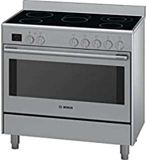 Bosch Electric Cooker 90 cm, Glass ceramic hob, HCB738357M, 1 Year Warranty