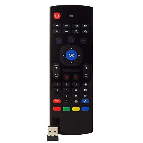 Nicoone Air Fly Mouse Remote, 2.4G Air Mouse Teclado inalámbrico Control remoto para Android Box €HTPCã€smart TVã€PC.