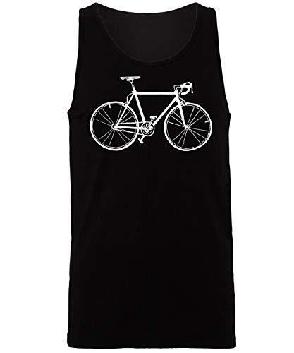 Hippowarehouse Bike Illustration Vest Tank Top Unisex Jersey Black