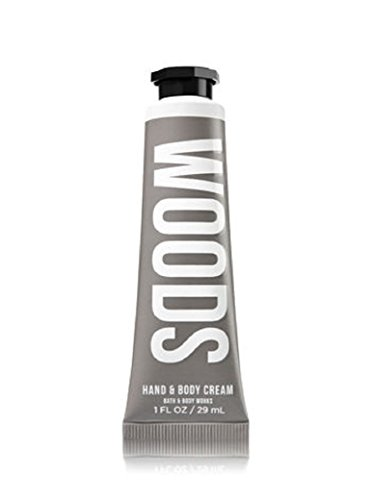 Bath and Body Works Woods Hand and Body Cream 1 Ounce Travel Size Retired Scent