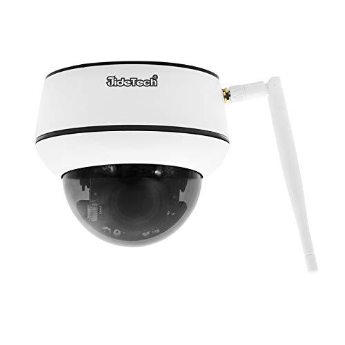 PTZ WiFi Überwachungskamera aussen,5MP Dome IP Auto Tracking Kamera Outdoor Unterstützt 5X optischen Zoom, 2 Kanal Audio 30m Nachtsicht, IP66 Onvif Überwachung, Unterstützung 128G SD Karte