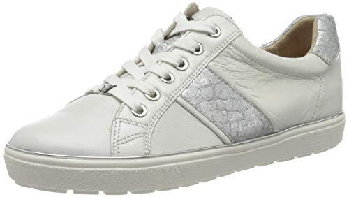 Caprice Manou, Zapatillas para Mujer, Blanco (White/Silver 191),...