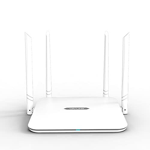 WAVLINK AC1200 Dual-Band Wireless WiFi Router,High Speed Internet Smart Router with 4x5dBi High Gain Antenna for Home Office(Gigabit WAN Ports/Access Point/WISP/WPS/Guest Wi-Fi)