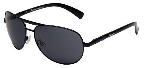 Klassische Marken Sonnenbrille für Herren von Burgmeister mit 100% UV Schutz | Sonnenbrille mit stabiler Metallfassung, hochwertigem Brillenetui, Brillenbeutel und 2 Jahren Garantie | SBM131-101
