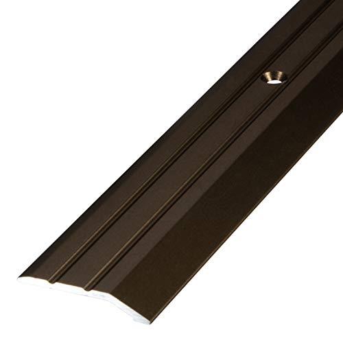 Gedotec Aluminium Übergangsprofil gelocht Abschlussprofil Alu | Fuß-Boden-Leiste höhen-ausgleich | Ausgleichsprofil bronze eloxiert | Abdeckleiste 200 cm | 1 Stück - Übergangsschiene zum Schrauben