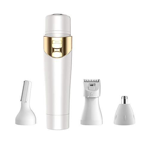 Depiladora, multifunción cuatro en uno máquina de afeitar eléctrica ceja máquina de afeitar nariz de cuchillo brazo axila partes privadas juego de rascadores para eliminar el vello corporal
